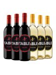 3 Table Red and 3 Table White Wine Half-Case - WineShop At Home half-case with 3 Table Red and 3 Table White Wine
