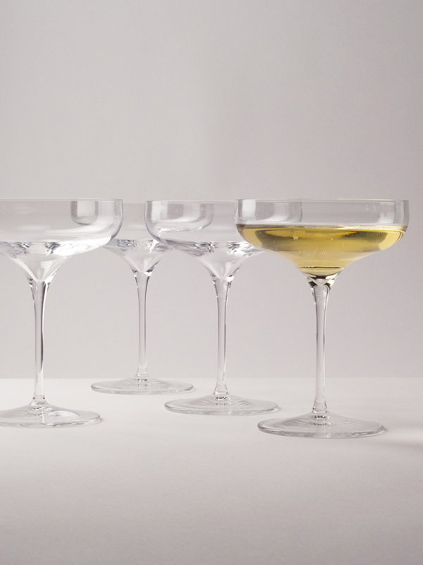 "Artisan 5 Star ""The Coupe"" Stem (Set of 4) - WineShop At Home slim stemware for wine, cocktails or desserts"