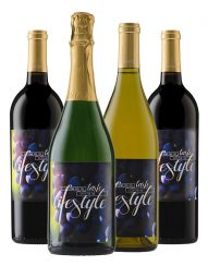 Case of Personalized Wine: 3 Cab, 3 Merlot, 3 Chard and 3 Sparkling - WineShop At Home case of personalized bottles