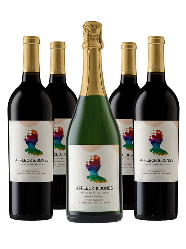 Half-Case of Personalized Wine: 2 Cab, 2 Merlot and 2 Sparkling - WineShop At Home half-case of personalized cab, merlot and sparkling