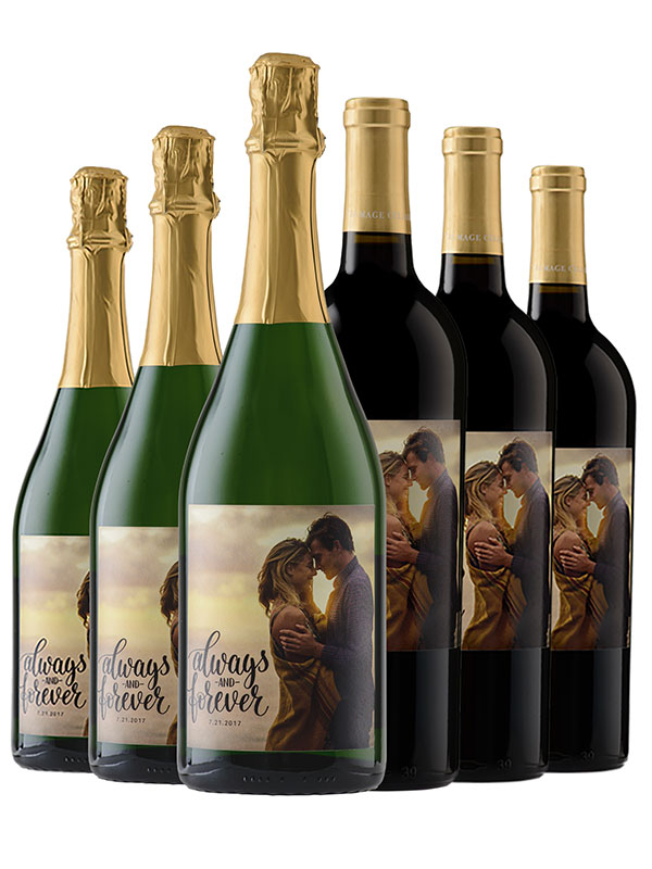 Case of Personalized Cabernet and Sparkling - WineShop At Home 6 bottles of Talmage Cellars Semi-Seco Sparkling and 6 bottles of Talmage Cellars Cabernet Sauvignon will make every event out of the ordinary.