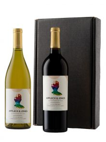 Personalized Duet: Cabernet and Chardonnay - WineShop At Home personalized Cabernet Sauvignon and personalized Chardonnay packaged in our classic black gift box