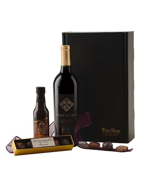 Personalized Cabernet and Truffles - WineShop At Home personalized Cabernet Sauvignon, truffles and chocolate Cabernet sauce