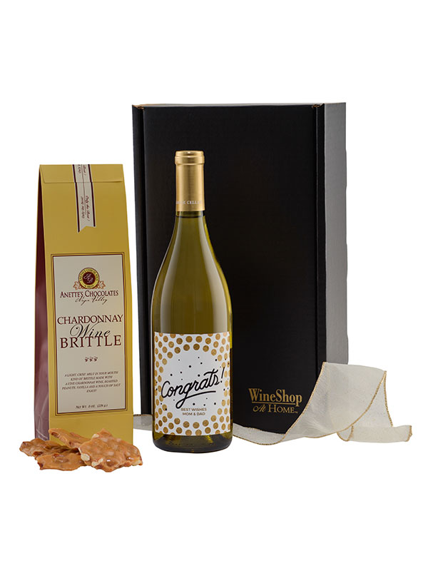 Personalized Chardonnay and Wine Brittle