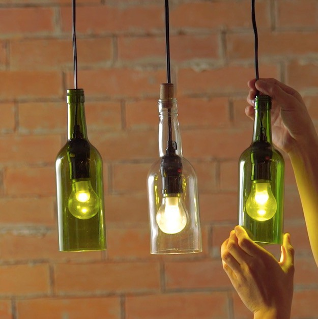 Celebrate Earth Day with Upcycled Wine Crafts - wine bottle lights