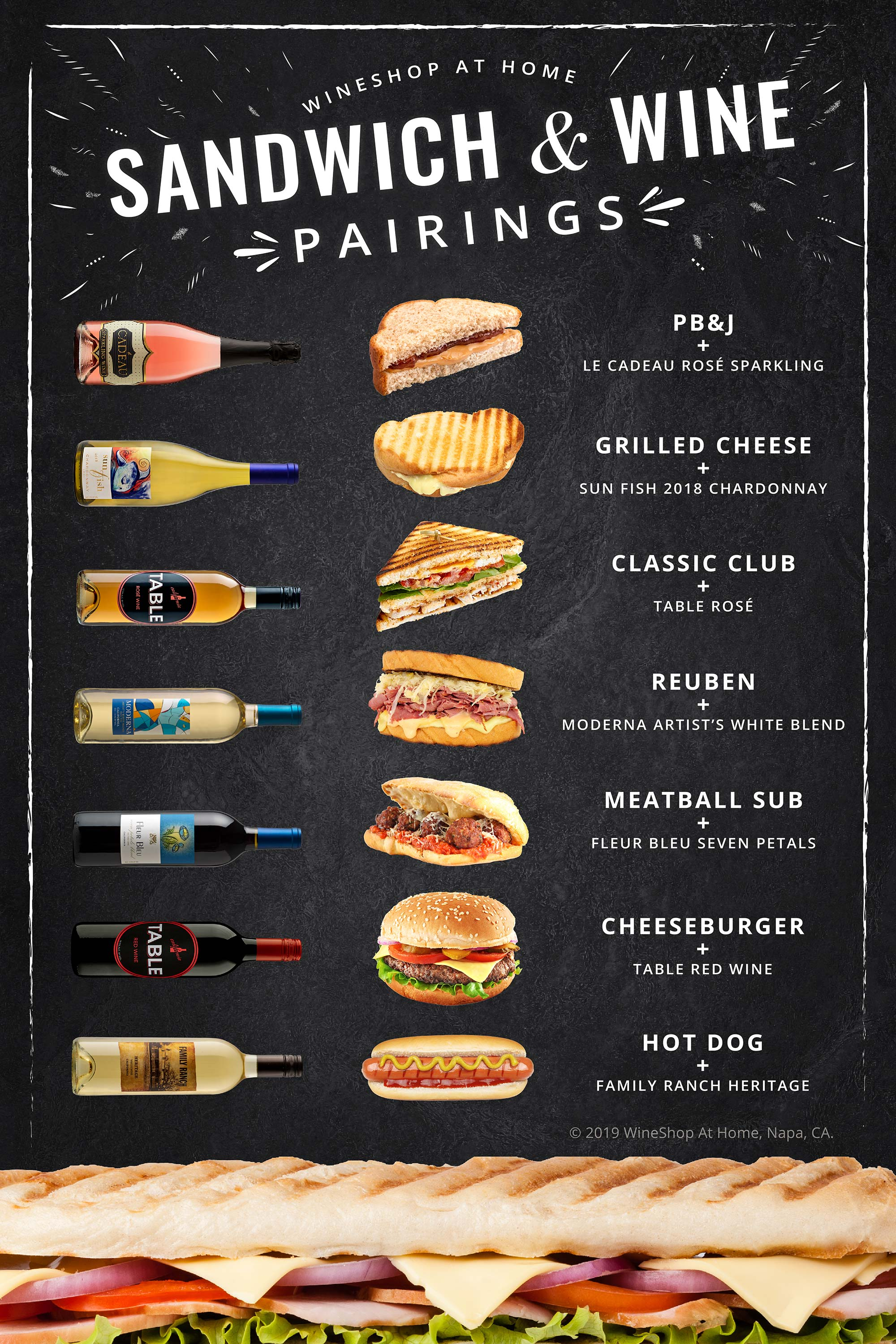 WineShop At Home Sandwich & Wine Pairings