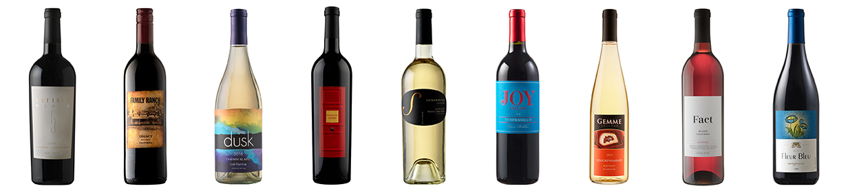 Award-winning bottles of wines