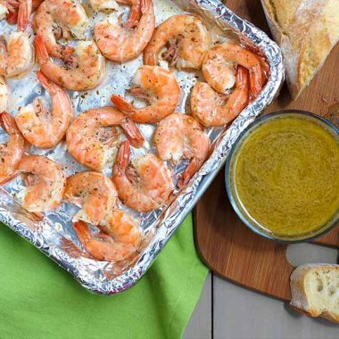 Spicy Lemon Dill Peel and Eat Shrimp Appetizer
