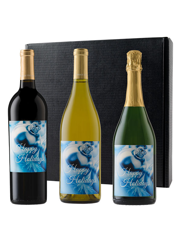 Personalized Mixed Trio: Cabernet, Chardonnay and Sparkling