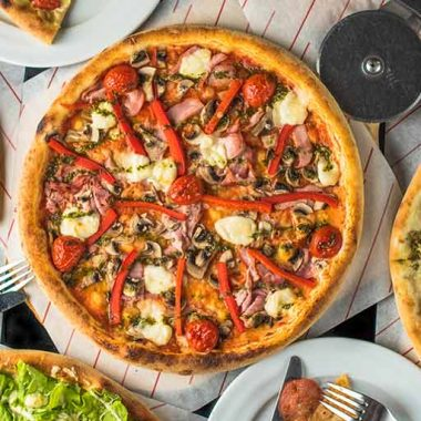 Different styles of pizzas